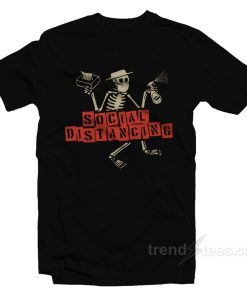 Skeleton Face Mask Social Distancing T-Shirt