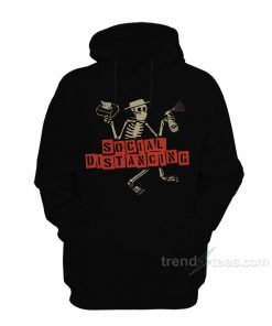 Skeleton Face Mask Social Distancing Hoodie