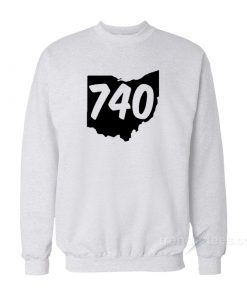 740 Area Code Ohio Sweatshirt