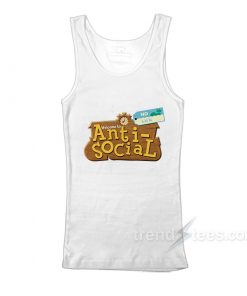 Anti Social Animal Crossing Parody Tank Top