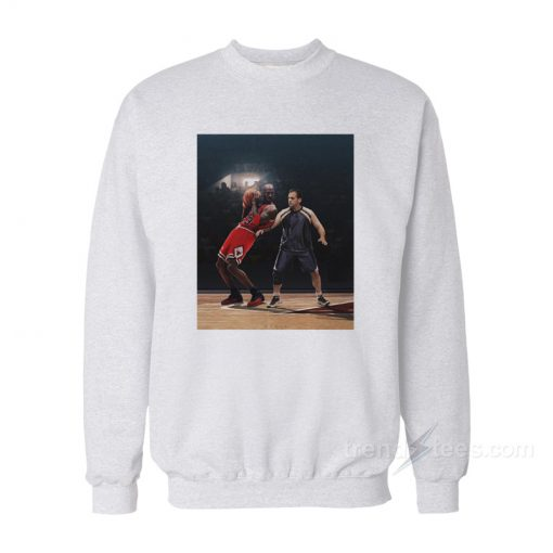 Michael Scott Vs Michael Jordan Playing Basketball Sweatshirt