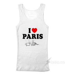 Paris Hilton I Love Paris Tank Top
