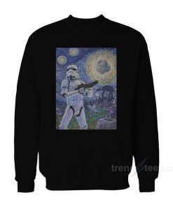 Star Wars Stormtrooper Stormy Starry Night Sweatshirt