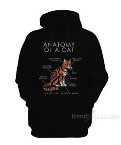 Anatomy Of Cat Hoodie