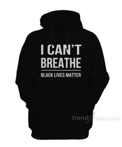 Bubba Wallace I Can't Breathe Black Lives Matter Hoodie