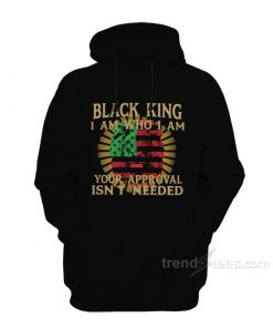Lion Black King I Am Who I Am Your Approval Isn't Needed Hoodie