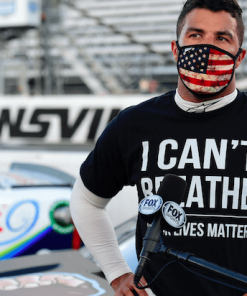 Bubba Wallace I Can't Breathe Black Lives Matter T-Shirt
