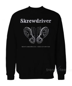 Skrewdriver Boots And Braces Voice Of Britain Sweatshirt