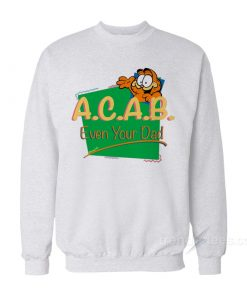 Vintage Inspired ACAB Garfield Sweatshirt