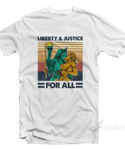 Vintage Liberty And Justice For All T-Shirt