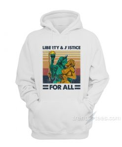 Vintage Liberty And Justice For All Hoodie