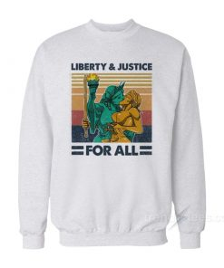 Vintage Liberty And Justice For All Sweatshirt