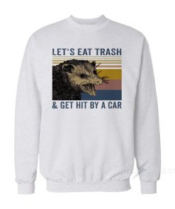 Let's Eat Trash And Get Hit By A Car Vintage Sweatshirt