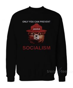 Only You Can Prevent Maga Bear Socialism Sweatshirt